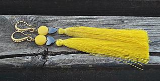 Náušnice - Náušnice s dlhými strapcami - 10560183_