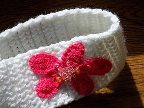 Detské čiapky - čelenka  -- detská biela - 10560895_