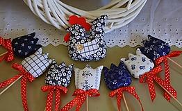 Jarná dekorácia - kohút folk SADA