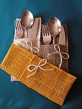 Úžitkový textil - jutové púzdro na príbor - 10561208_