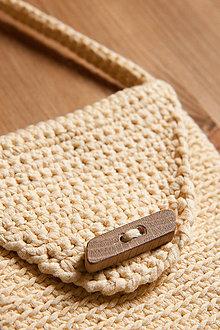 Kabelky - Crossbody háčkovaná kabelka mini - 10560282_