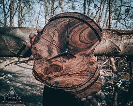 Hodiny - Artefakt - Teakové drevené hodiny - 10562352_