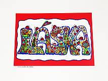 LÁSKA - originál kreslený obrázok