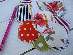Úžitkový textil - odličovacie tampóny jednostranné-pestrofarebné - 10562043_