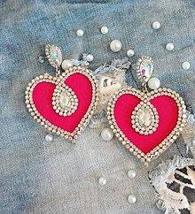 Náušnice - Náušnice červené srdce - 10562738_