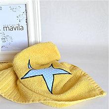 Textil - UTERÁK modrá hviezda - 10561887_