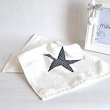 Textil - UTERÁK čierna hviezda - 10562057_