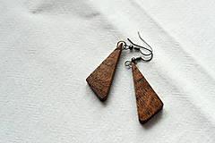 Náušnice - Náušnice - Orechové trojuholníčky I. - 10562625_