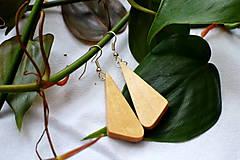 Náušnice - Náušnice - Bukové trojuholníčky I. - 10562757_