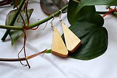 Náušnice - Náušnice - Bukové trojuholníčky I. - 10562760_