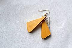 Náušnice - Náušnice - Bukové trojuholníčky I. - 10562761_