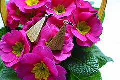 Náušnice - Náušnice - Orechové trojuholníčky II. - 10562783_