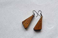 Náušnice - Náušnice - Orechové trojuholníčky II. - 10562786_
