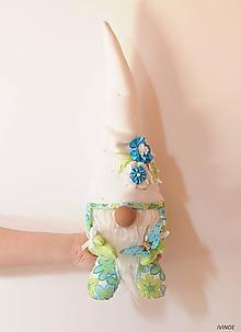 Dekorácie - Jarný škriatok - tyrkysovo zelený - 10561501_
