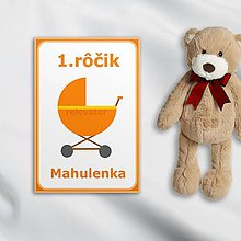 Papiernictvo - Minimalistické míľnikové kartičky - 10562143_