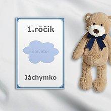 Papiernictvo - Minimalistické míľnikové kartičky (obláčik) - 10562150_
