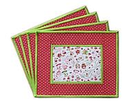 Úžitkový textil - Prestieranie zeleno-červené - 10564629_