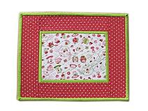 Úžitkový textil - Prestieranie zeleno-červené - 10564630_