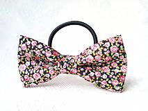 Ozdoby do vlasov - Romantic hair bow (flowers) - 10565549_