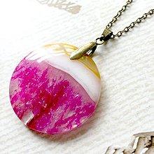 Náhrdelníky - Pink Agate Bronze Pendant / Prívesok ružový achát #2012 - 10563528_