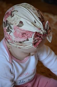Detské čiapky - Detská čiapka- turban - 10566497_