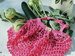 Nákupné tašky - Sieťovka - ružová - 10563750_
