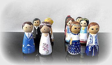 Dekorácie - drevené dekoratíne bábiky... - 10565595_
