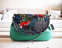 - Kabelka - líšky so zelenou  - 10565265_