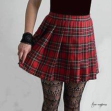 Sukne - Rocková károvaná sukňa so skladmi - 10566120_