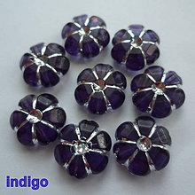 Korálky - Kvet plast 11x5mm-1ks (indigo) - 10563625_