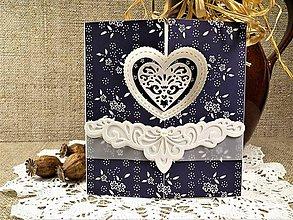 Papiernictvo - Modrotlačová svadba II. pohľadnica - 10566128_