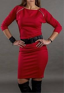 Šaty - Červené šaty - 10565165_