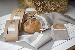 Úžitkový textil - Vrecko na chlieb s motívom krajka - 10564573_