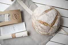 Úžitkový textil - Vrecko na chlieb s motívom krajka  (Vrecko na chlieb krajka malé) - 10564582_