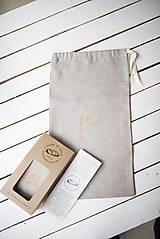 Úžitkový textil - Vrecko na chlieb s motívom klasy - 10564738_