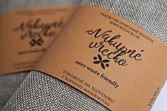Úžitkový textil - Nákupné vrecko 100% ľan - 10565051_