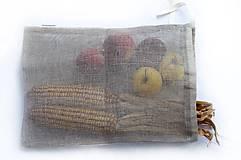 Úžitkový textil - Nákupné vrecko 100% ľan - 10565066_