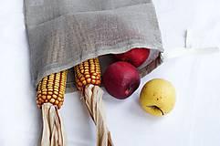 Úžitkový textil - Nákupné vrecko 100% ľan - 10565069_