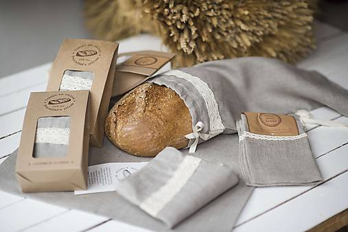 Vrecko na chlieb s motívom krajka  (Vrecko na chlieb krajka malé)