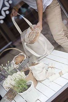 Nákupné tašky - Nákupná taška priateľská k prírode  (Nákupná taška čistá) - 10564598_