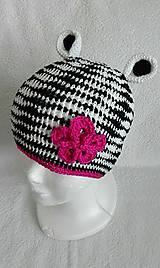 Detské čiapky - Zebrová čiapočka - 10566447_
