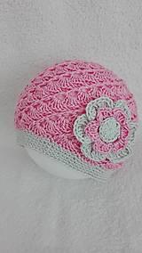 Detské čiapky - Ľahká ružová čiapočka - 10566450_