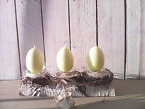 Dekorácie - Jarný svietnik ... prírodný so sviečkami - 10565698_