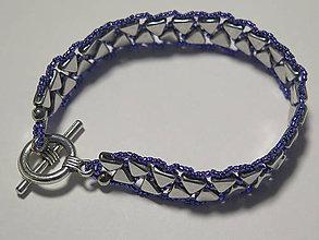 Náramky - elegantný náramok vo farbe platina - fialová - 10563333_