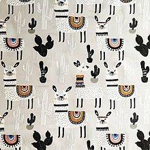 Textil - lamy; 100 % bavlna, šírka 160 cm, cena za 0,5 m - 10563598_