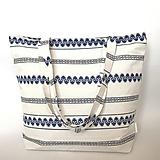 Veľké tašky - Veľká kabelka ľudová bielo modrá - 10564013_