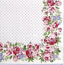 Papier - Servitka G 105  Rose white large - 10563869_