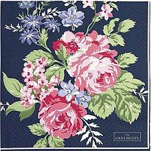 Papier - Servitka G 106 Rose dark blue - 10563873_