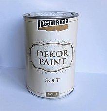Farby-laky - Dekor Paint Soft- prírodná biela 1000 ml - 10564875_
