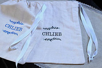 Iné tašky - ľanové vrecko na chlieb - 10565478_